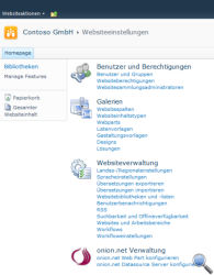 Websiteeinstellungen